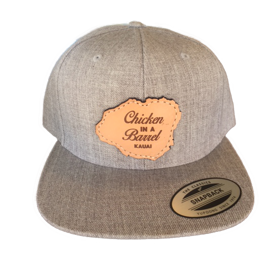 Gray Leather Patch Hat  d385613cdde0